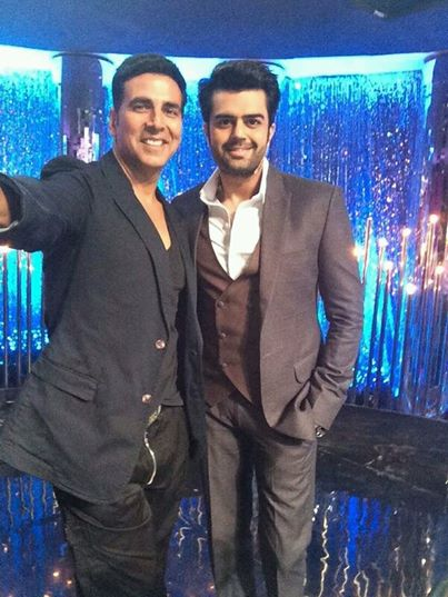 Manish Paul and Akshay Kumar