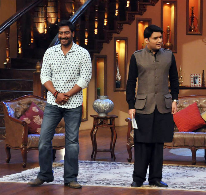 Ajay Devgan in Comedy Nights with Kapil