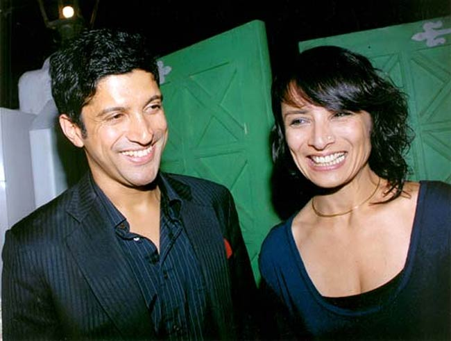 Farhan Akhtar with his Adhuna Bhabani