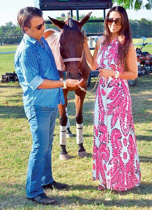 Sangeeta Ghosh with his husband and polo player Shailendra Singh