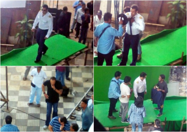 During the shots of Bigg Boss8 promo