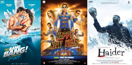 Boolywood movie BangBang release strategy Haider Happy New year