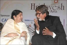 Big B and Lata Mangeshkar